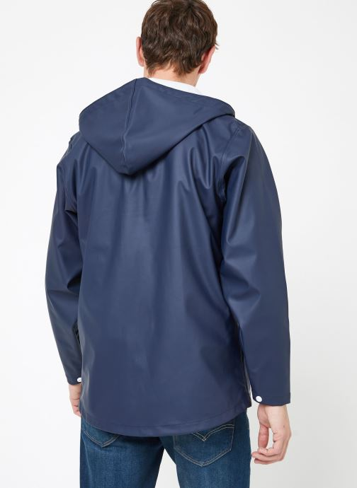 Vêtements Tretorn WINGS SHORT RAIN JACKET Bleu vue portées chaussures