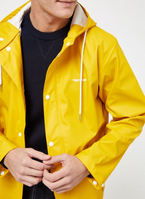 Vêtements Tretorn WINGS SHORT RAIN JACKET Jaune vue face