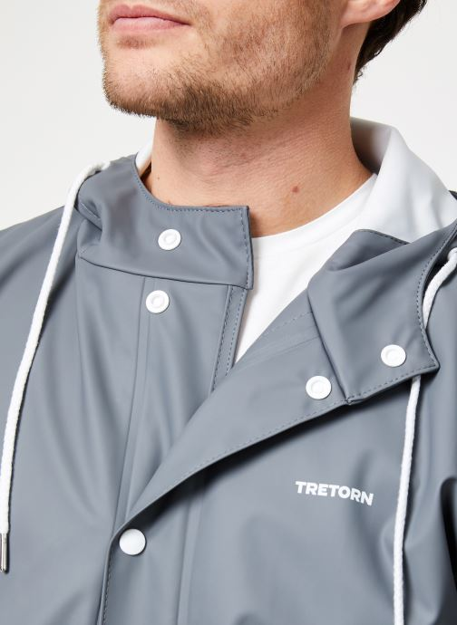 Vêtements Tretorn WINGS SHORT RAIN JACKET Gris vue face
