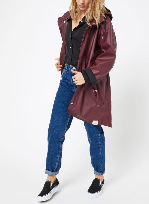 Vêtements Tretorn WINGS PLUS RAIN JACKET W Bordeaux vue bas / vue portée sac