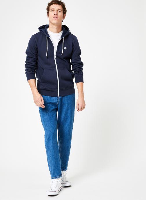 Vêtements Element Cornell Classic Zippé Bleu vue bas / vue portée sac