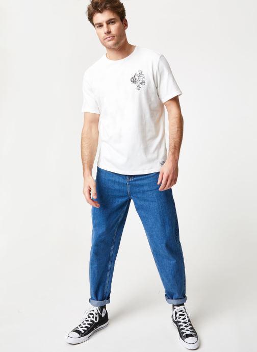 Vêtements Element Crew Blanc vue bas / vue portée sac