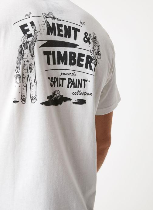 Vêtements Element Crew Blanc vue face