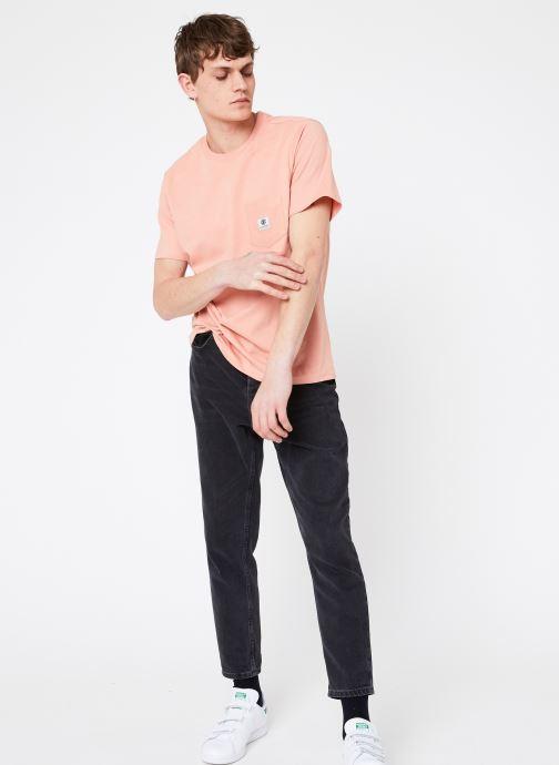 Vêtements Element Basic Pocket Label Rose vue bas / vue portée sac