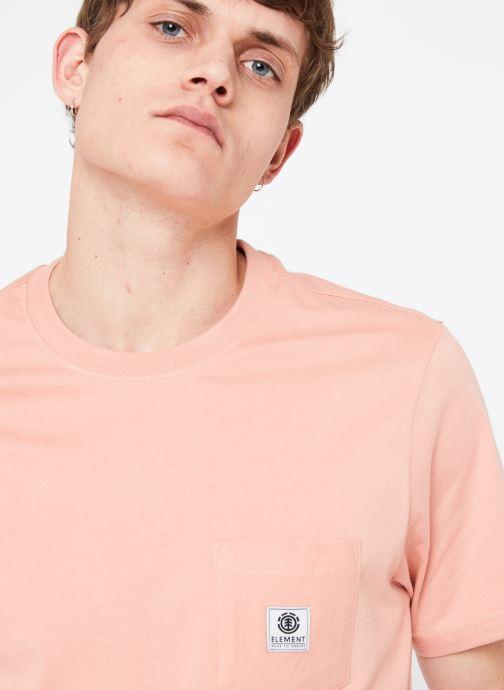 Vêtements Element Basic Pocket Label Rose vue face