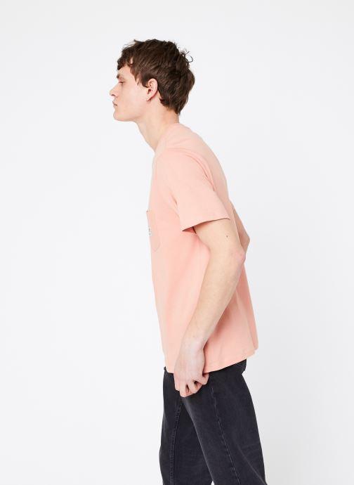 Vêtements Element Basic Pocket Label Rose vue droite