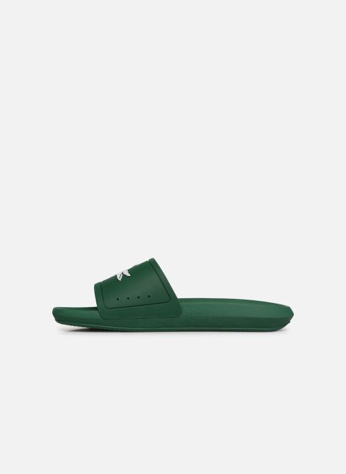 Sandalias Lacoste Croco Slide 119 1 Cma Verde vista de frente