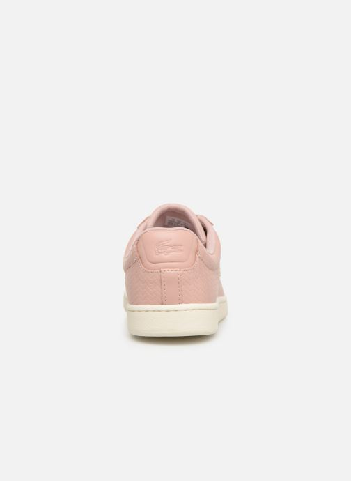 Baskets Lacoste Carnaby Evo 119 3 Sfa Rose vue droite