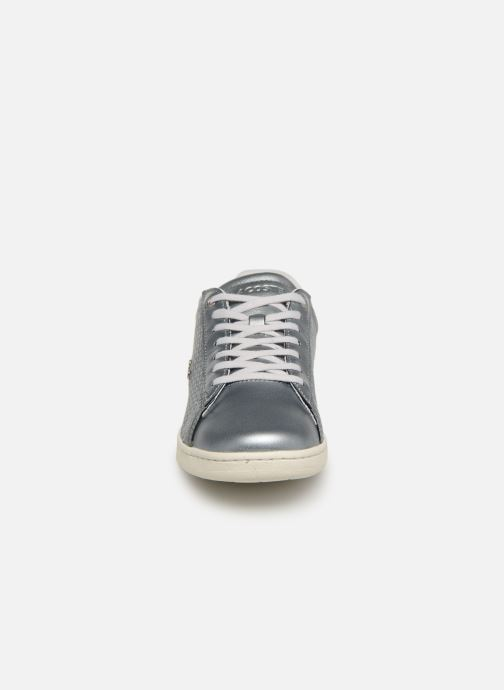 Baskets Lacoste Carnaby Evo 119 9 Sfa Argent vue portées chaussures