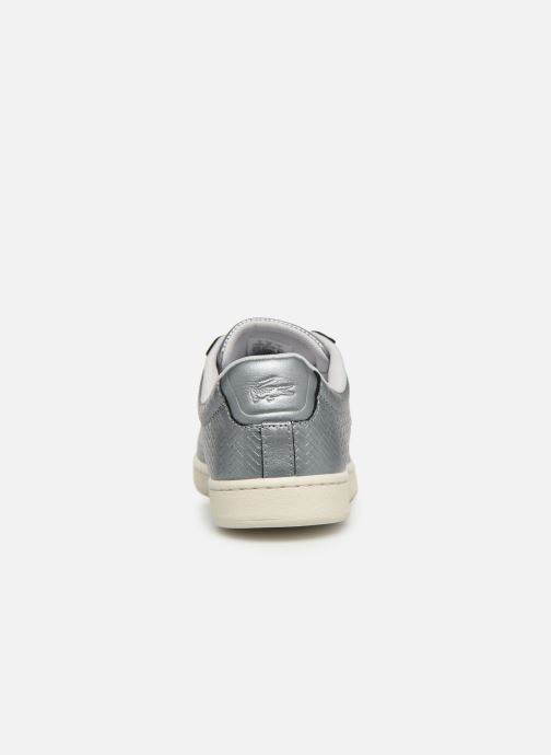 Baskets Lacoste Carnaby Evo 119 9 Sfa Argent vue droite