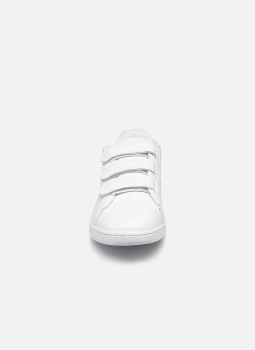 Baskets Lacoste Carnaby Evo Strap1191Sfa Blanc vue portées chaussures