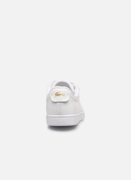Baskets Lacoste Carnaby Evo Strap1191Sfa Blanc vue droite