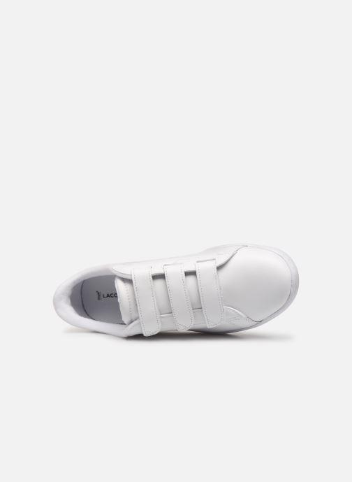 Sneaker Lacoste Carnaby Evo Strap1191Sfa weiß ansicht von links