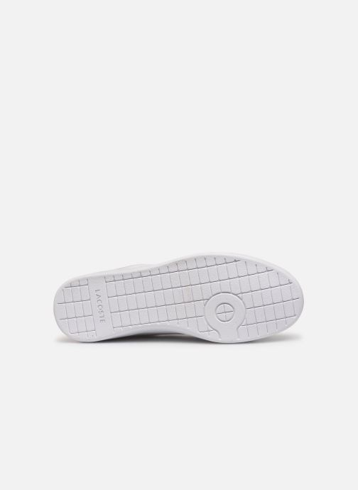 Baskets Lacoste Carnaby Evo Strap1191Sfa Blanc vue haut