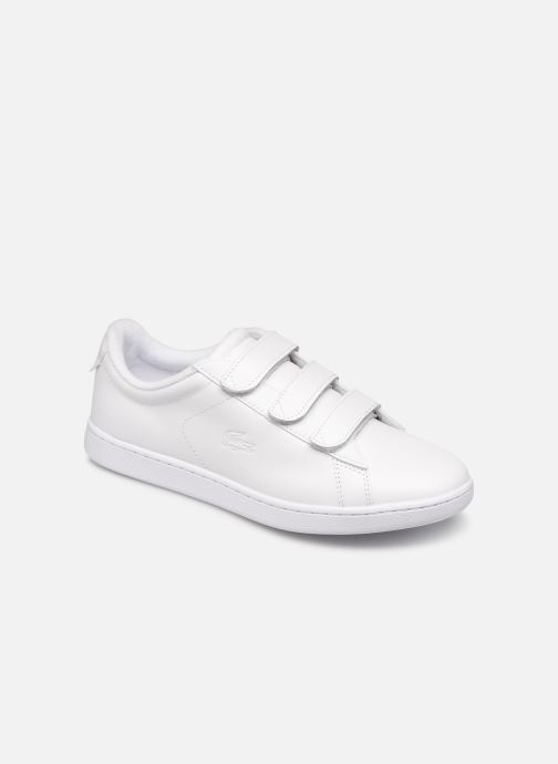 Baskets Lacoste Carnaby Evo Strap1191Sfa Blanc vue détail/paire
