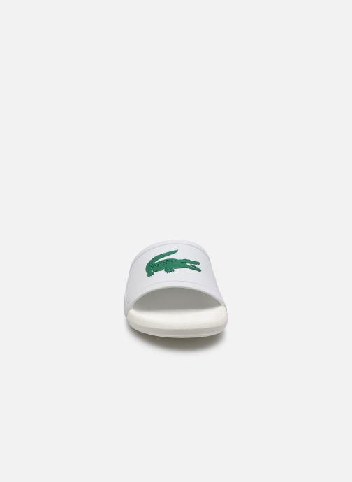 Mules et sabots Lacoste Croco Slide 119 3 Cfa Blanc vue portées chaussures