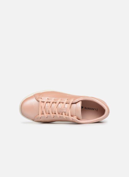 Sneaker Lacoste Straightset 119 1 Cfa rosa ansicht von links