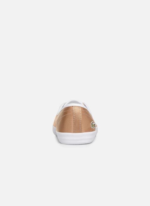Baskets Lacoste Ziane Chunky 119 3 Cfa Or et bronze vue droite