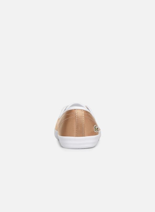 Baskets Lacoste Ziane Chunky 119 3 Cfa Or et bronze vue droite