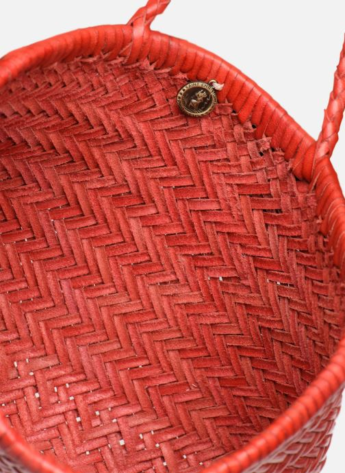 Sacs à main Dragon Diffusion MINI FLAP GORA Rouge vue derrière