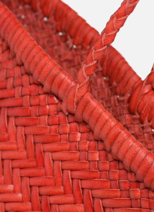 Sacs à main Dragon Diffusion MINI FLAP GORA Rouge vue gauche