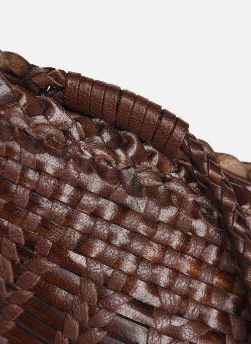 Petite Maroquinerie Dragon Diffusion LIZARD POCHETTE Marron vue gauche