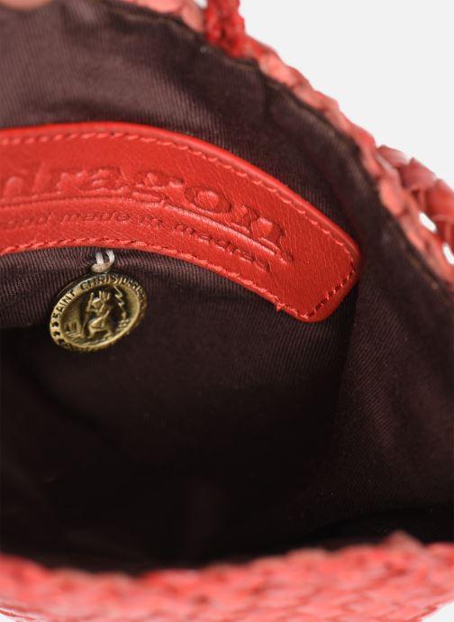 Sacs à main Dragon Diffusion B WEAVE POCHETTE SMALL Rouge vue derrière