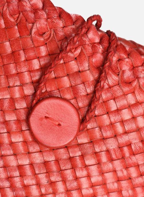 Sacs à main Dragon Diffusion B WEAVE POCHETTE SMALL Rouge vue gauche