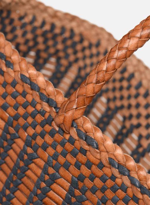 Bolsos de mano Dragon Diffusion CANNAGE LIZARD BIG Marrón vista lateral izquierda