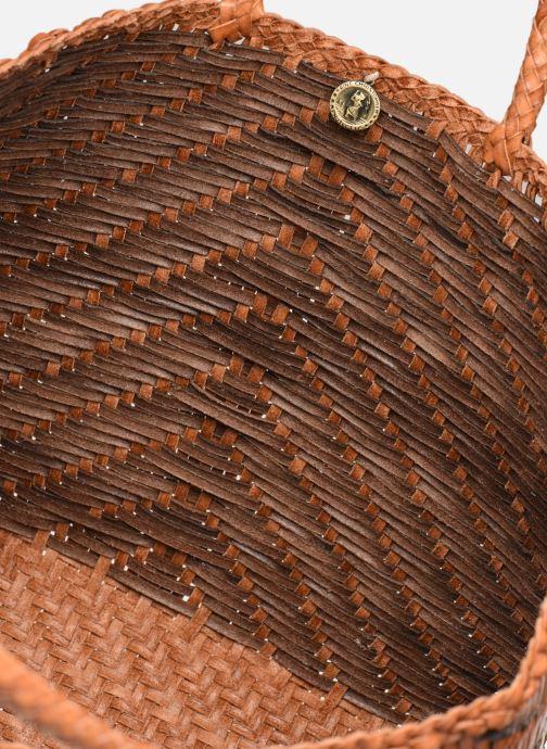Sacs à main Dragon Diffusion NEW KUMARI BIG Marron vue derrière