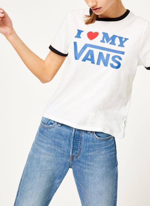 Kleding Vans Vans Love Ringer Wit detail