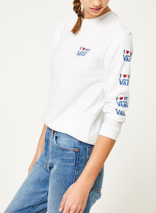 Vêtements Vans Vans Love Ls Blanc vue détail/paire