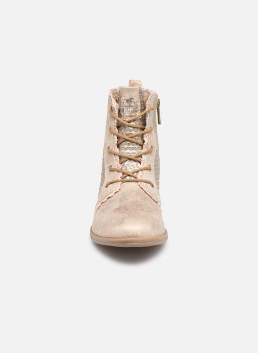 Bottines et boots Mustang shoes Ewenn Rose vue portées chaussures