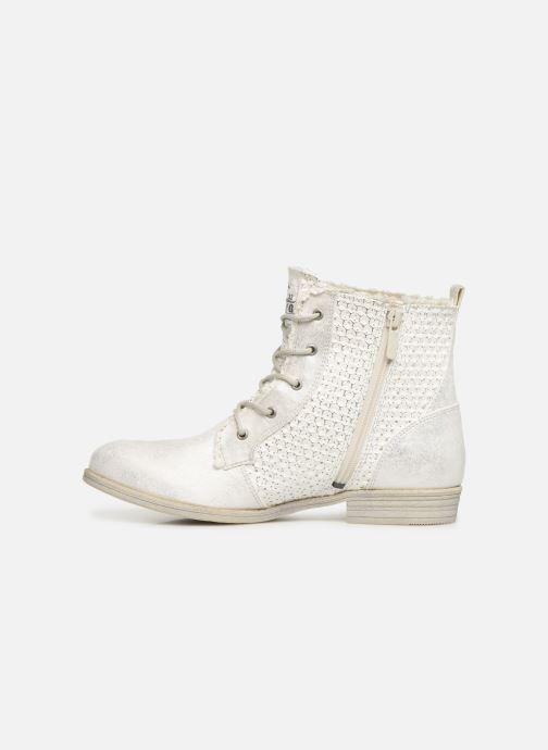 Bottines et boots Mustang shoes Ewenn Blanc vue face