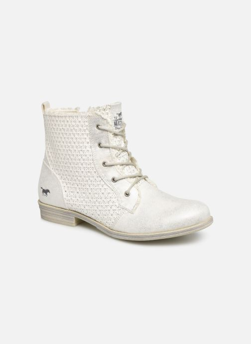 Bottines et boots Mustang shoes Ewenn Blanc vue détail/paire