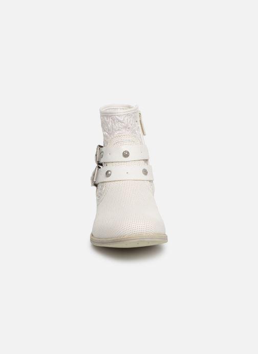 Bottines et boots Mustang shoes Iria Blanc vue portées chaussures