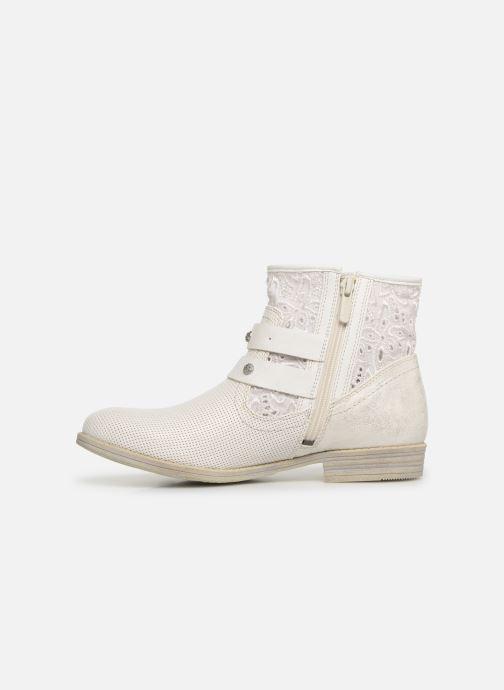 Bottines et boots Mustang shoes Iria Blanc vue face