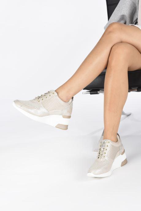 Baskets Mustang shoes Aelia Or et bronze vue bas / vue portée sac