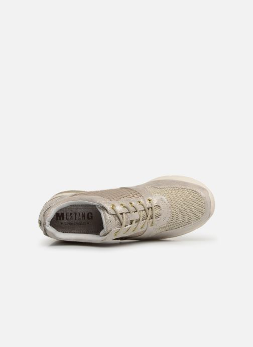 Baskets Mustang shoes Aelia Or et bronze vue gauche