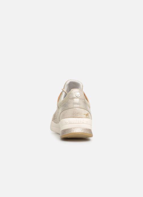 Baskets Mustang shoes Kyana Or et bronze vue droite
