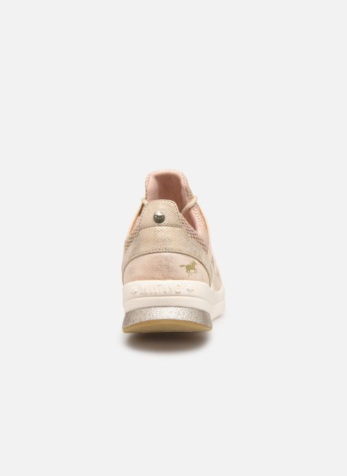 Baskets Mustang shoes Kyana Beige vue droite