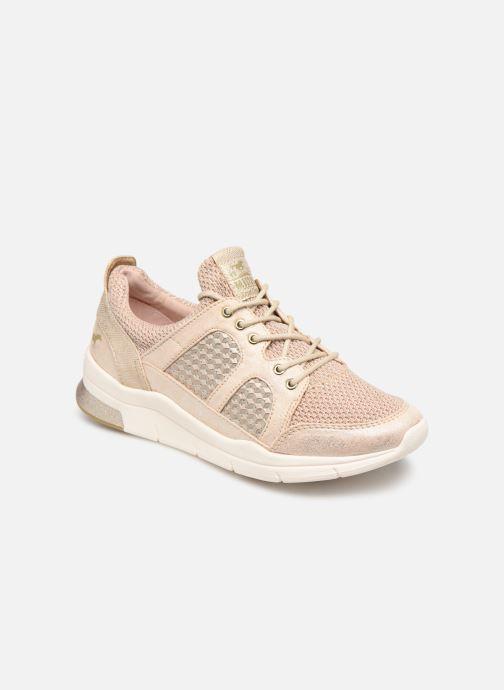 Baskets Mustang shoes Kyana Beige vue détail/paire