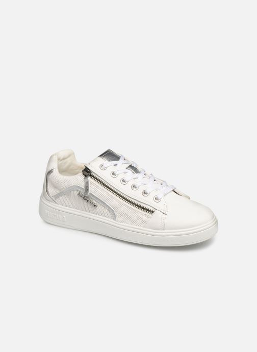 Baskets Mustang shoes Kecy Blanc vue détail/paire