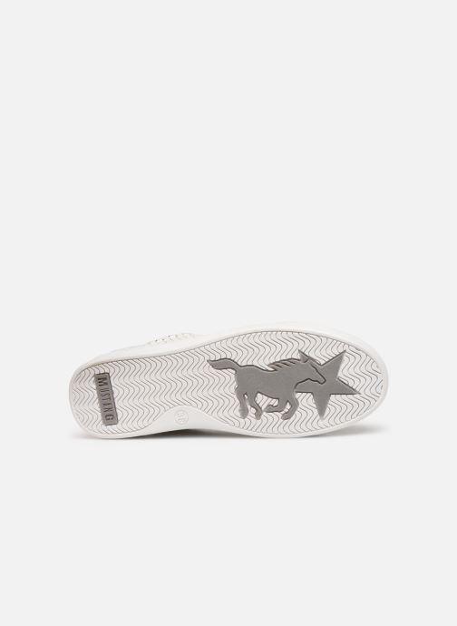 Baskets Mustang shoes Nayla Argent vue haut