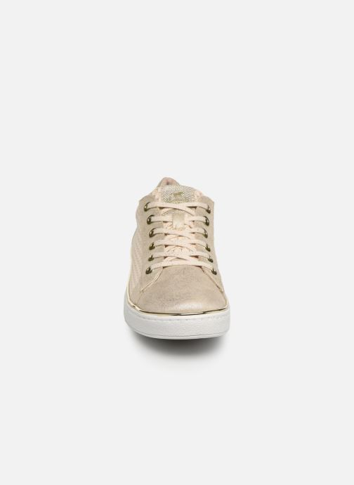 Baskets Mustang shoes Nayla Beige vue portées chaussures