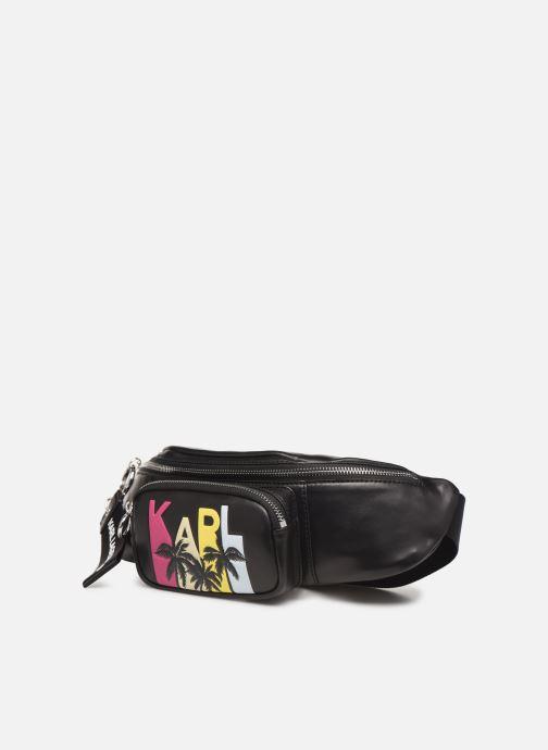 Petite Maroquinerie KARL LAGERFELD KALIFORNIA BUMBAG Noir vue portées chaussures