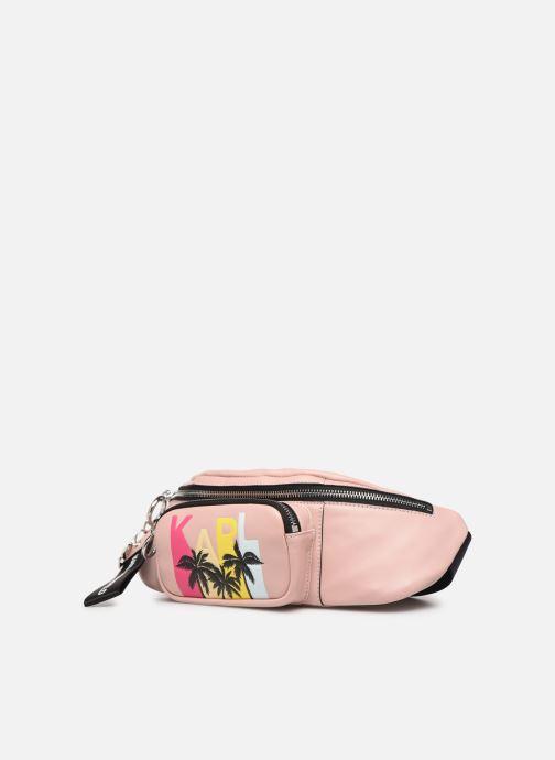 Petite Maroquinerie KARL LAGERFELD KALIFORNIA BUMBAG Rose vue portées chaussures