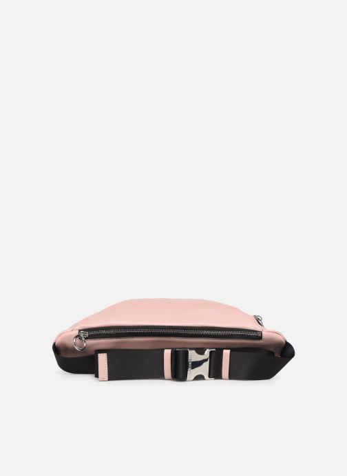 Kleine lederwaren Karl Lagerfeld KALIFORNIA BUMBAG Roze voorkant