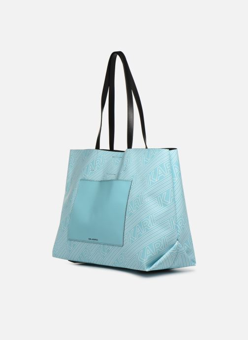Bolsos de mano KARL LAGERFELD KALIFORNIA SHOPPER Azul vista del modelo