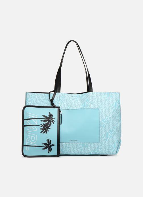 Handtaschen KARL LAGERFELD KALIFORNIA SHOPPER blau ansicht von links